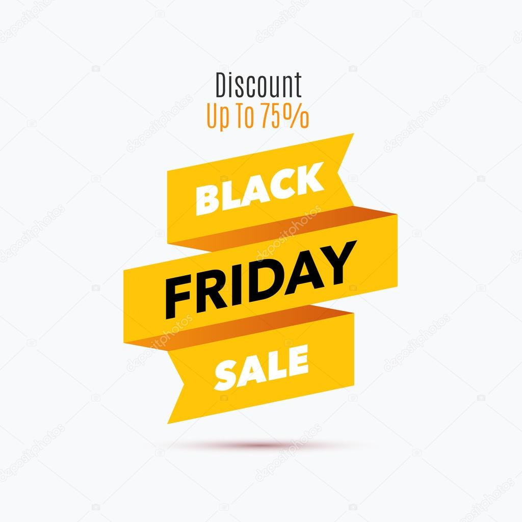 Black Friday Sale Design Template Creative Banner Vector Illus