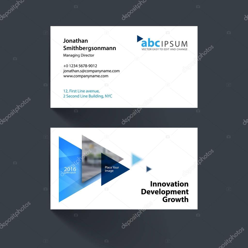 Depositphotos 129259214 Stock Illustration Vector Business Card Template With