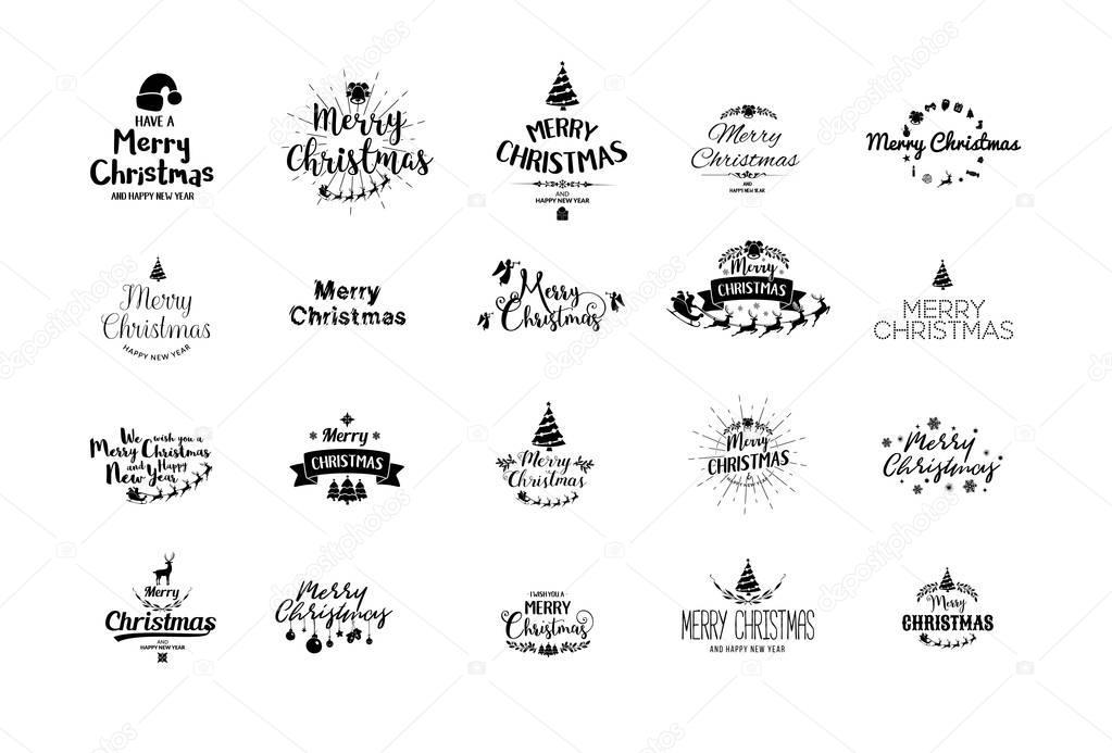 Frohe Weihnachten Schrift.Frohe Weihnachten Schriftzug Typografie Handschrift Text