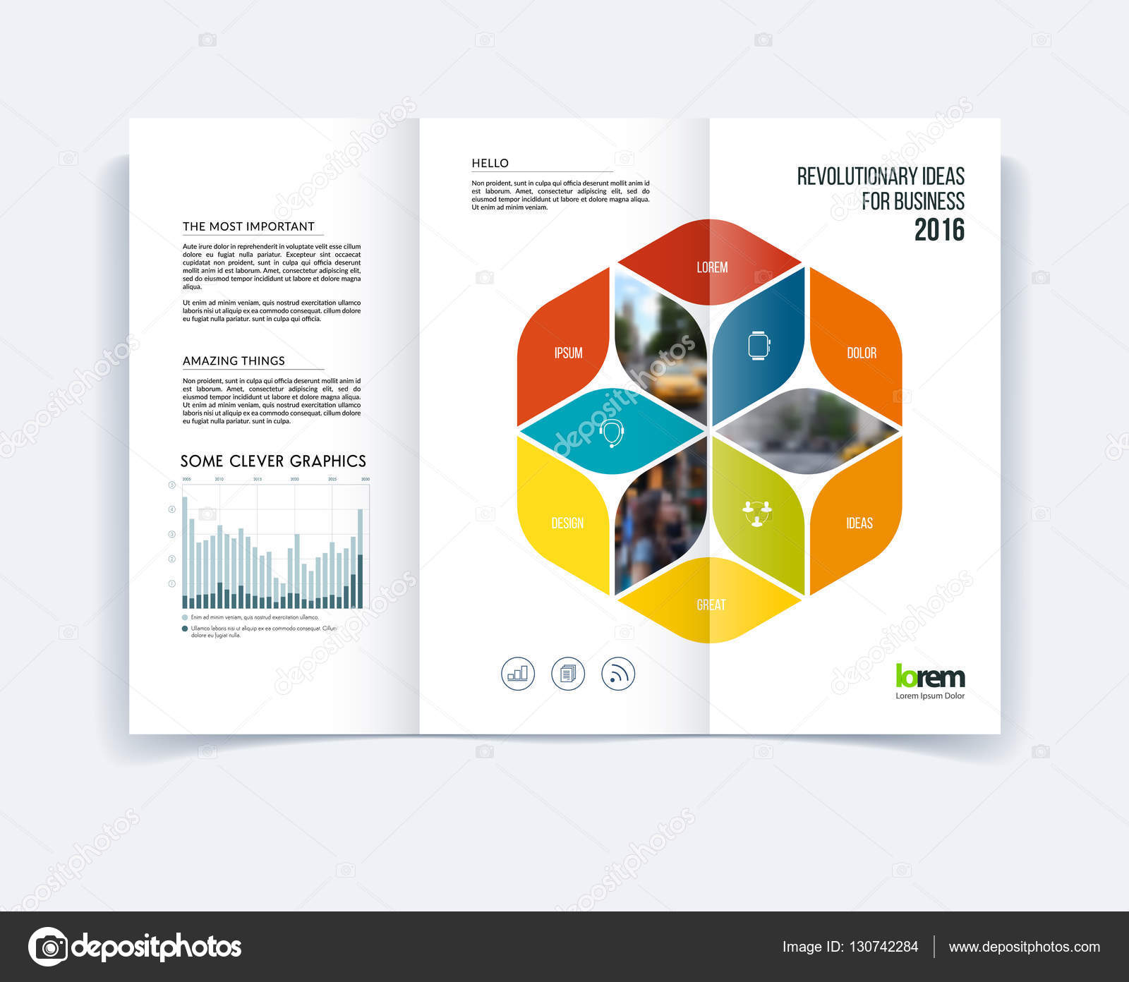 Trifold Brochure Template Layout Cover Design Flyer In A Wit - A4 tri fold brochure template