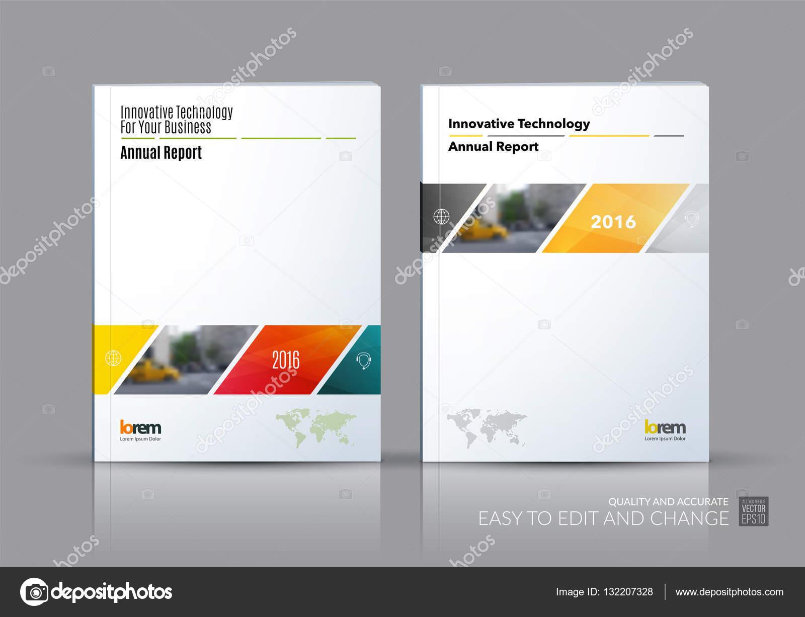 Conjunto de vector de negocio. Diseño de plantilla de folleto ...