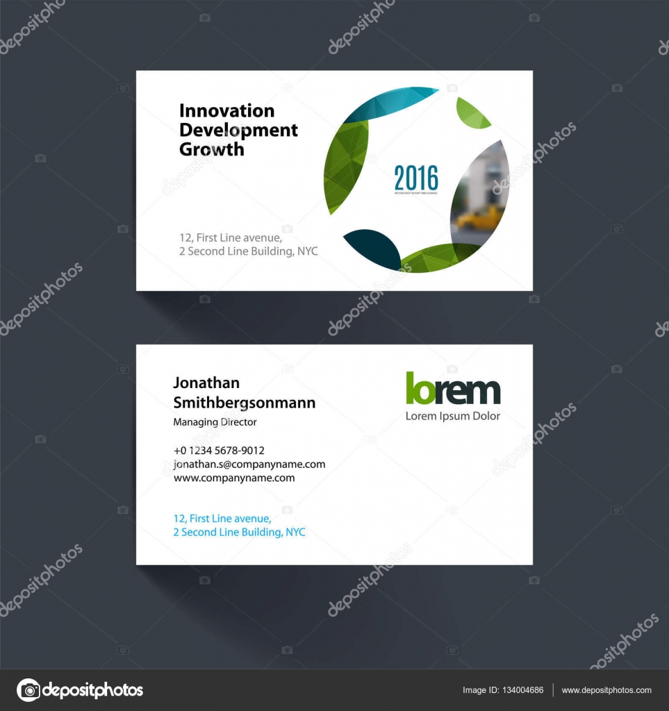 Vector business card template with circle soft shapes round fo vector business card template with circle soft shapes round fo stock vector wajeb Choice Image