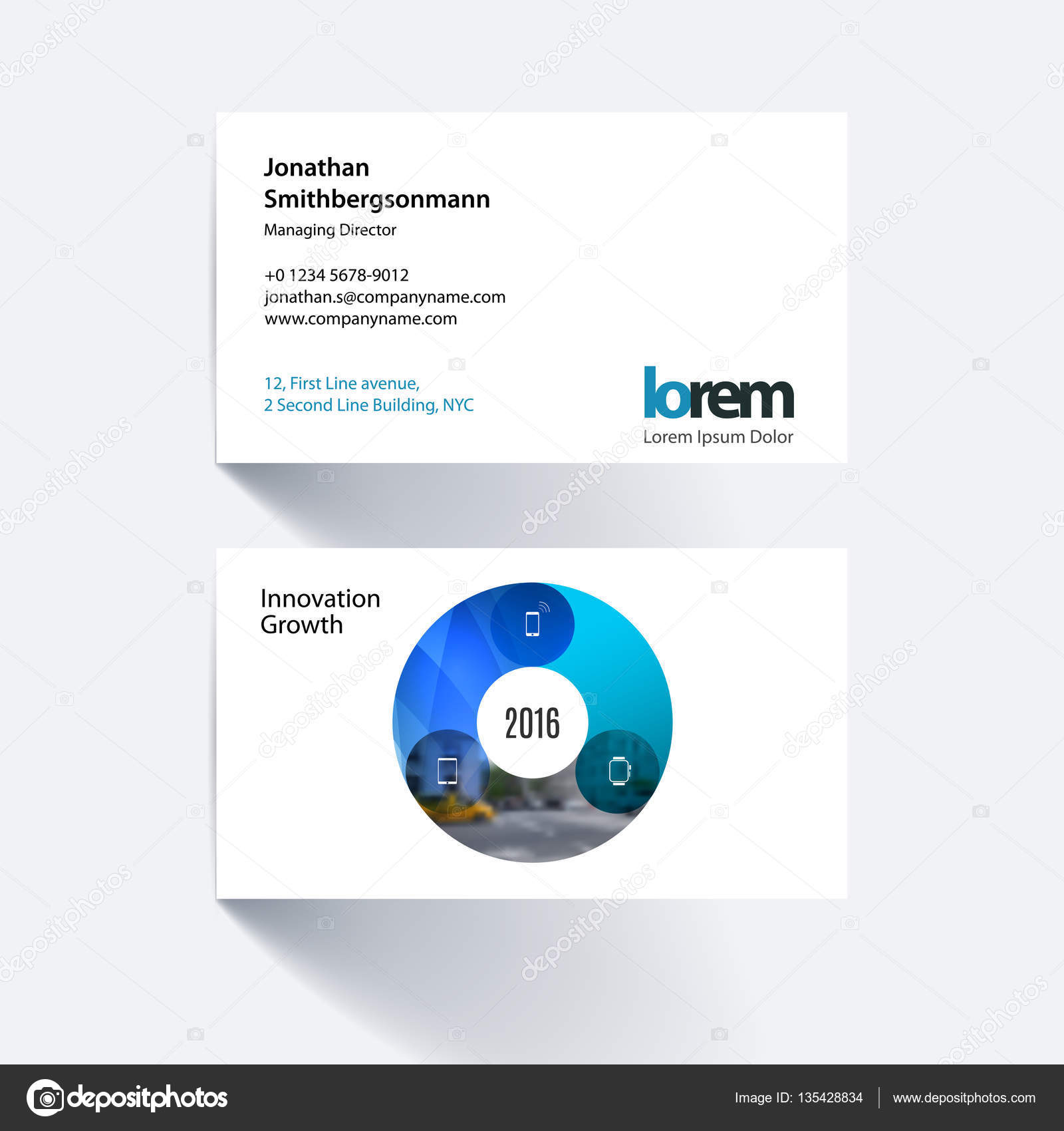 Vector business card template with circle round diagram for it vector business card template with circle round diagram for it stock vector fbccfo Gallery