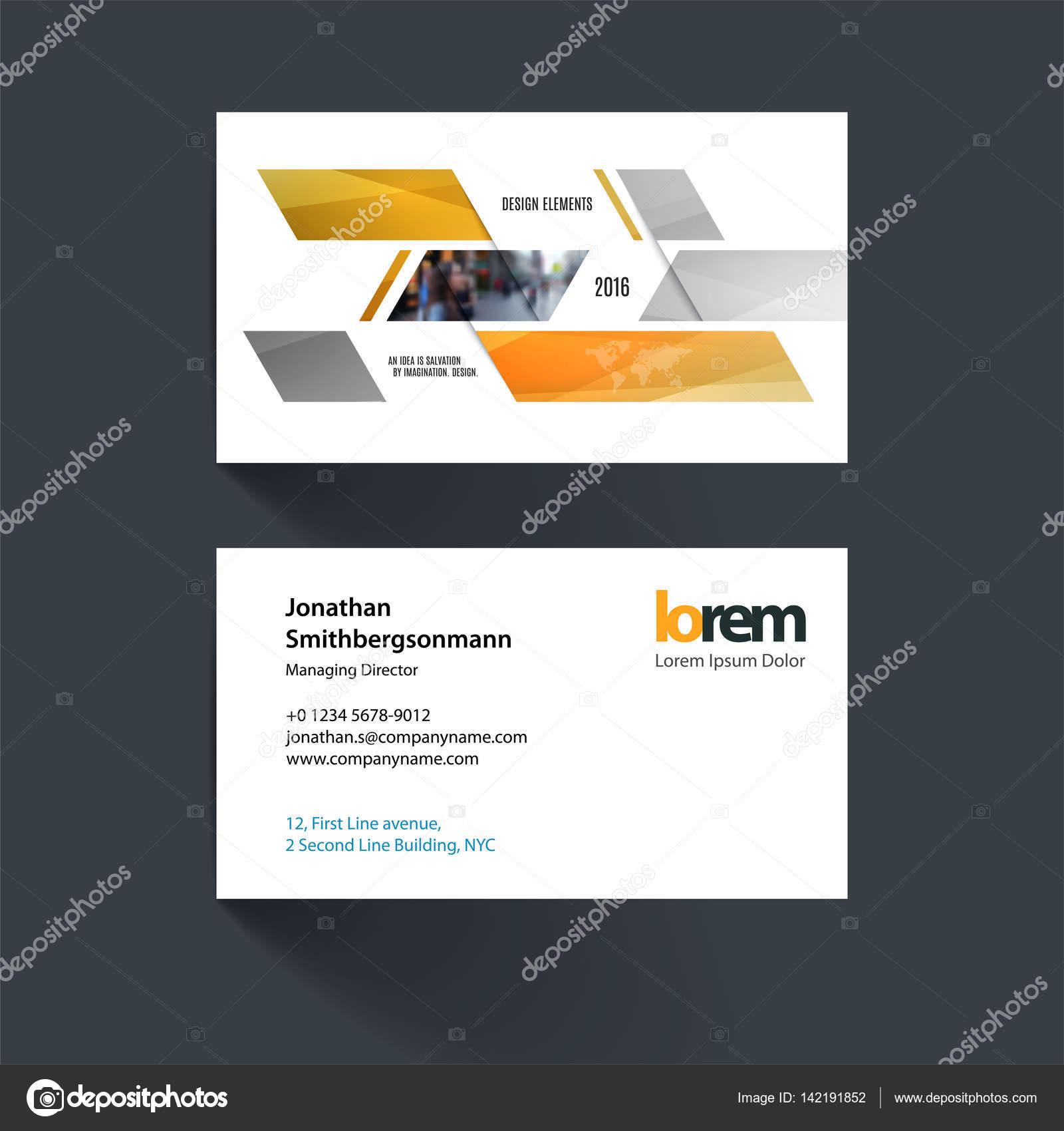 Modle De Carte Visite Vector Avec Formes Gomtriques Dynamiques Jaunes Pour Eco Affaires Technologie Simple Et Propre Conception