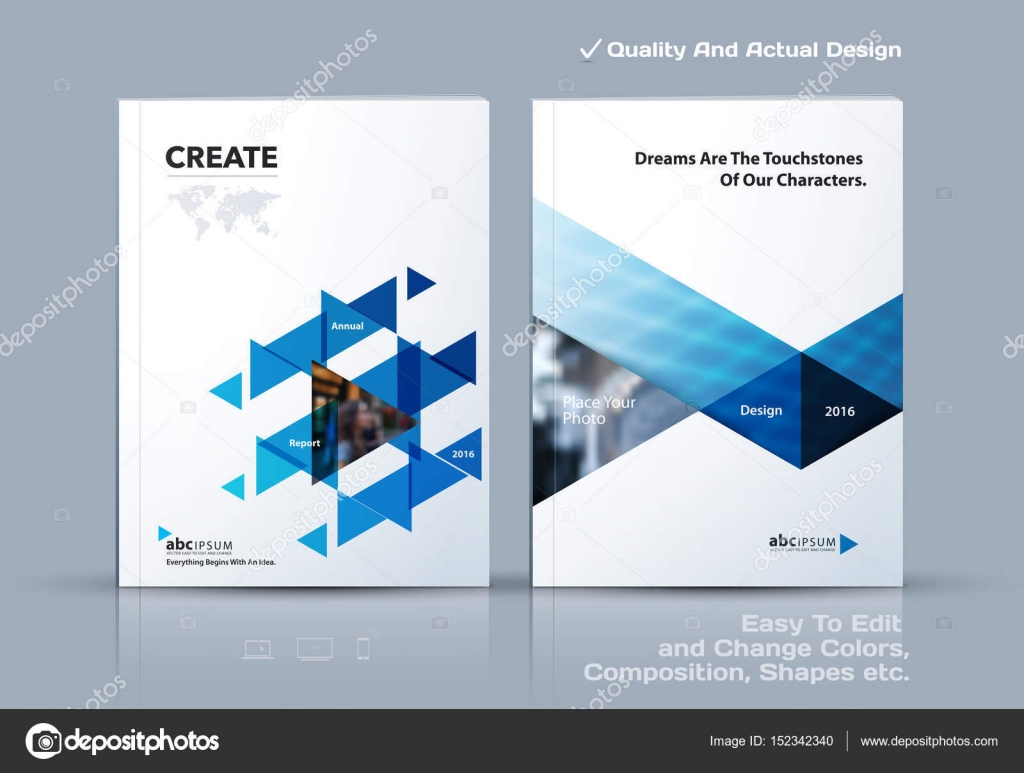brochure design cover modern layout annual report poster flyer in a4 with colourful triangles geometric shapes for tech science market with light