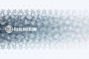 Abstract vector design elements with stars for fun