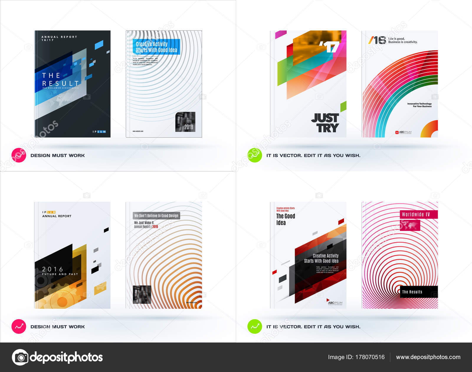 abstract design of business vector template brochure stock vector