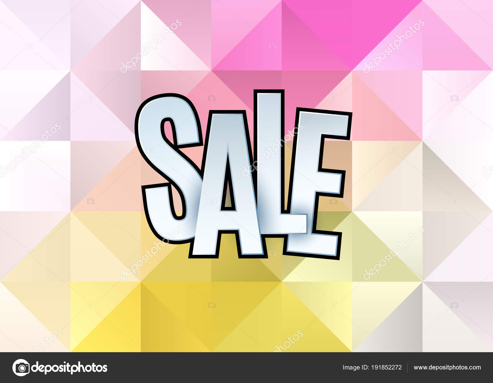 sale abstract banner template design on soft polygonal elegant