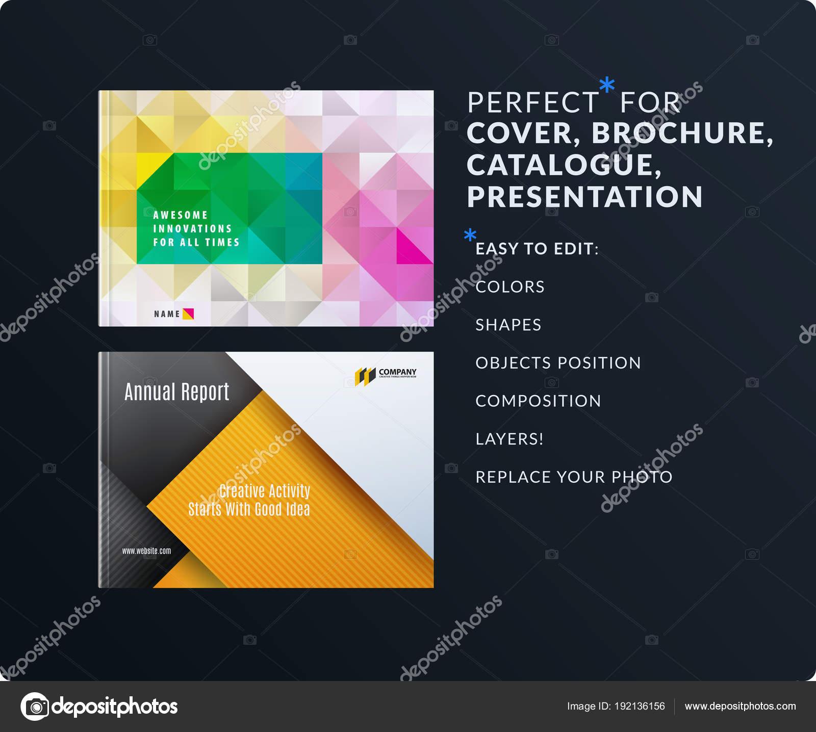 Presentation. Abstract vector set of modern horizontal templates ...