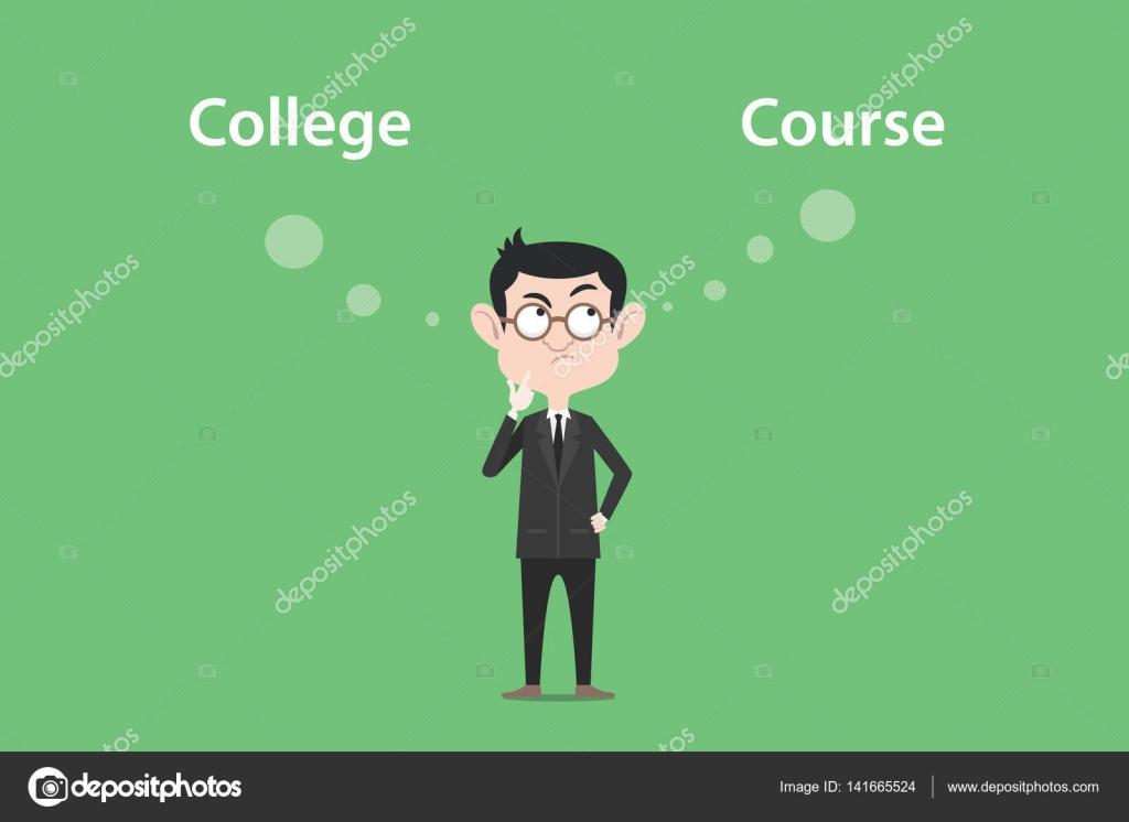 verwirrend für den Gang zum College oder Kurs Illustration mit einem ...