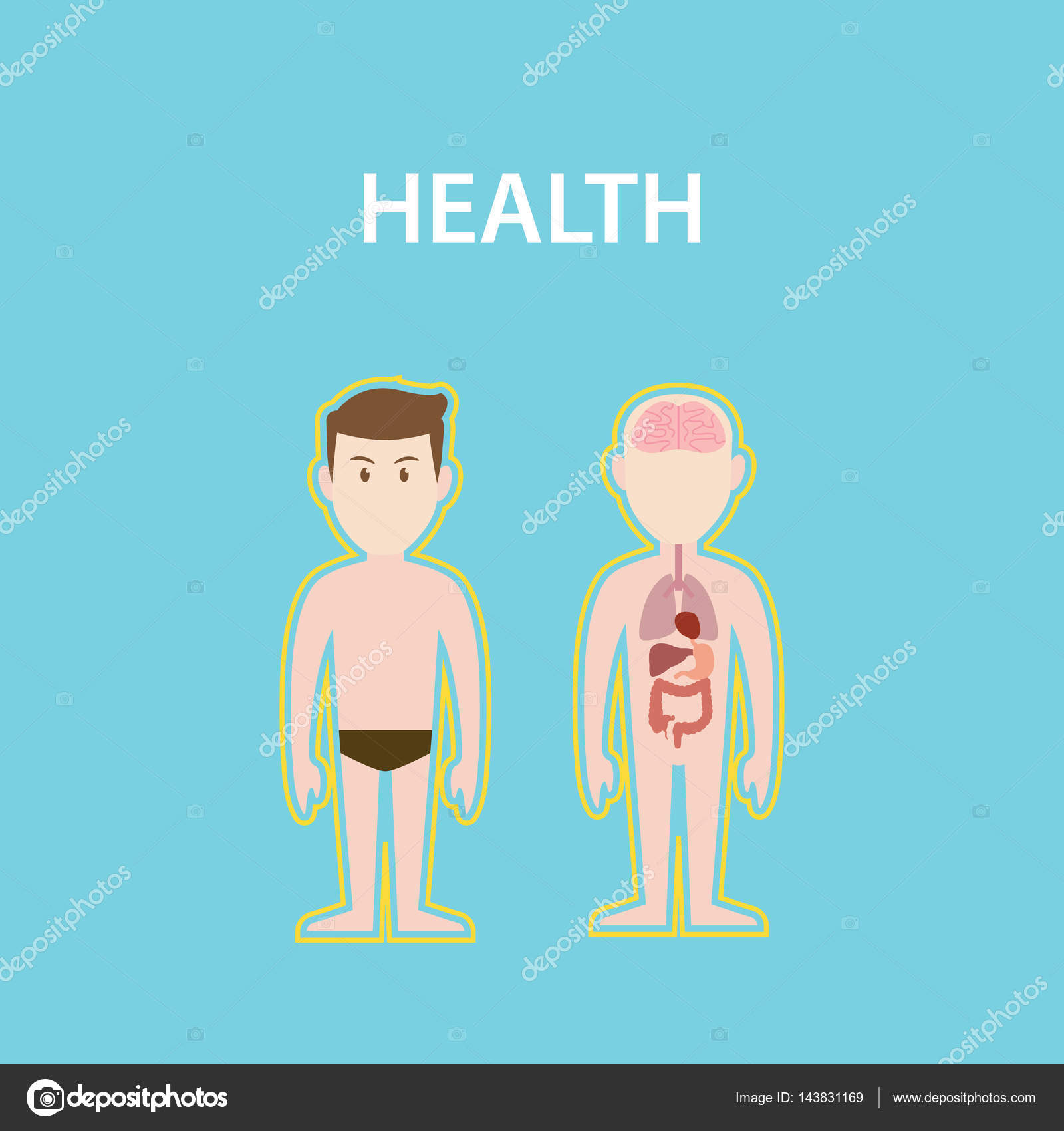 health white text illustration with two naked man bodies showing the ...