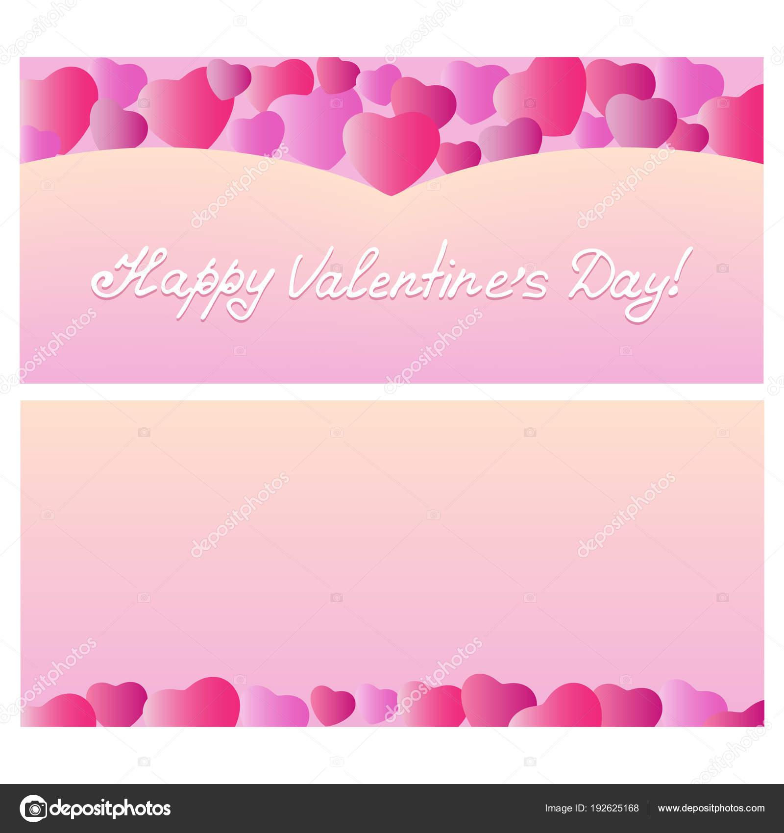 Entwerfen Sie Grußkarten Valentinstag Mit Herzen Vorlage Für Urlaub ...