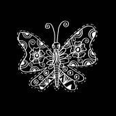 Butterfly with decorative style