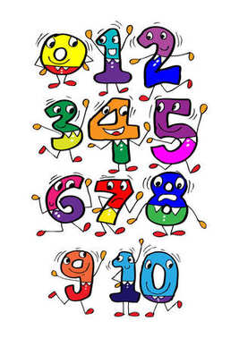 Cartoon numbers for kindergarten.