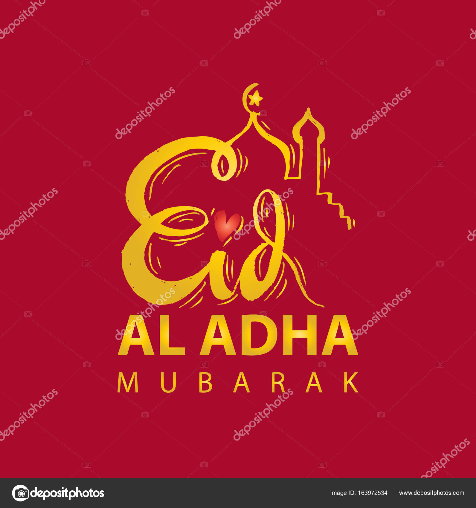Festival Of Sacrifice Eid Al Adha Greeting Card Stock Photo
