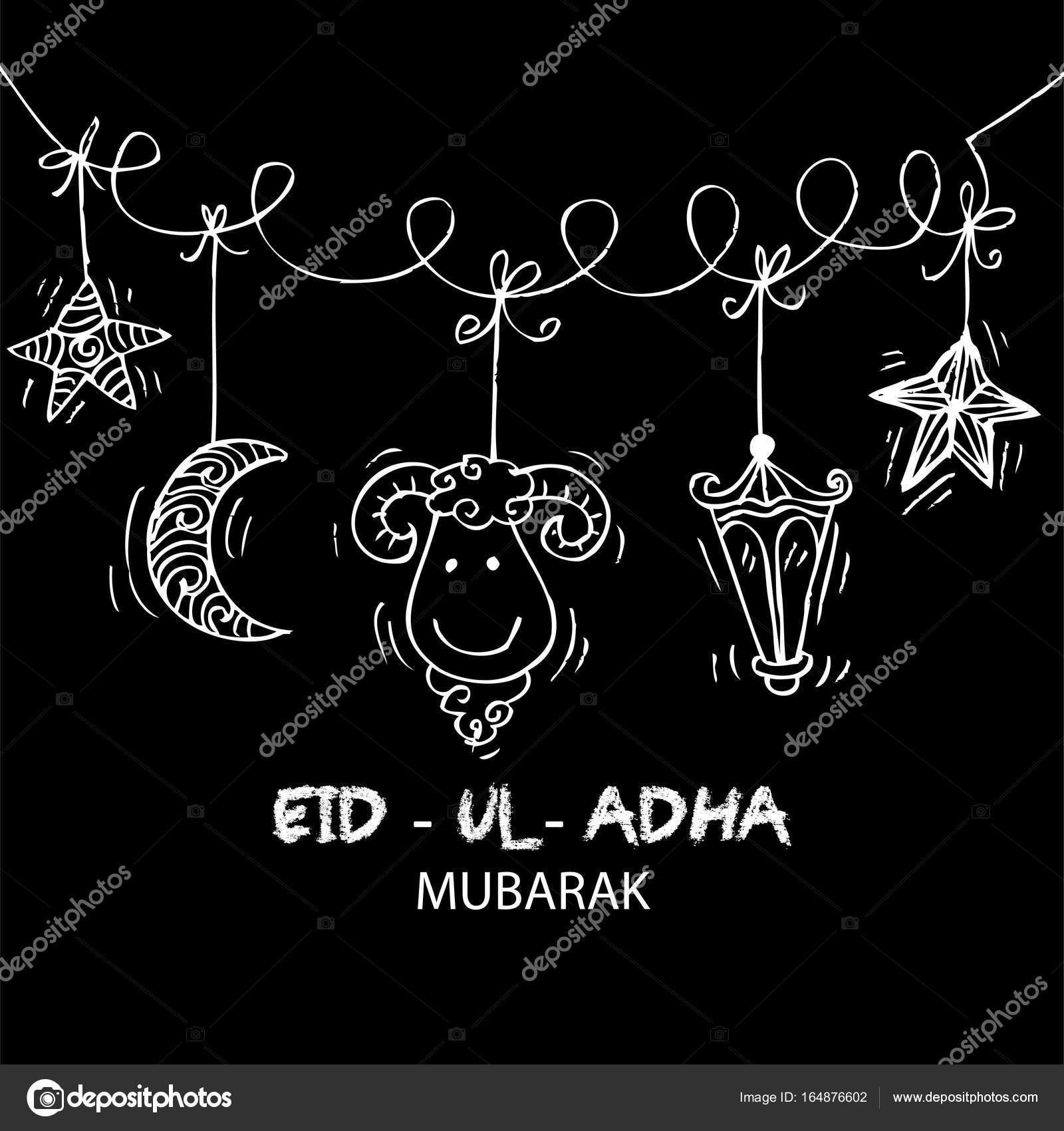 Greeting Card Design For Muslim Community Festival Eid Ul Adha