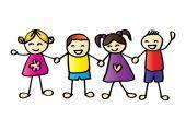 malé děti, drželi se za ruce