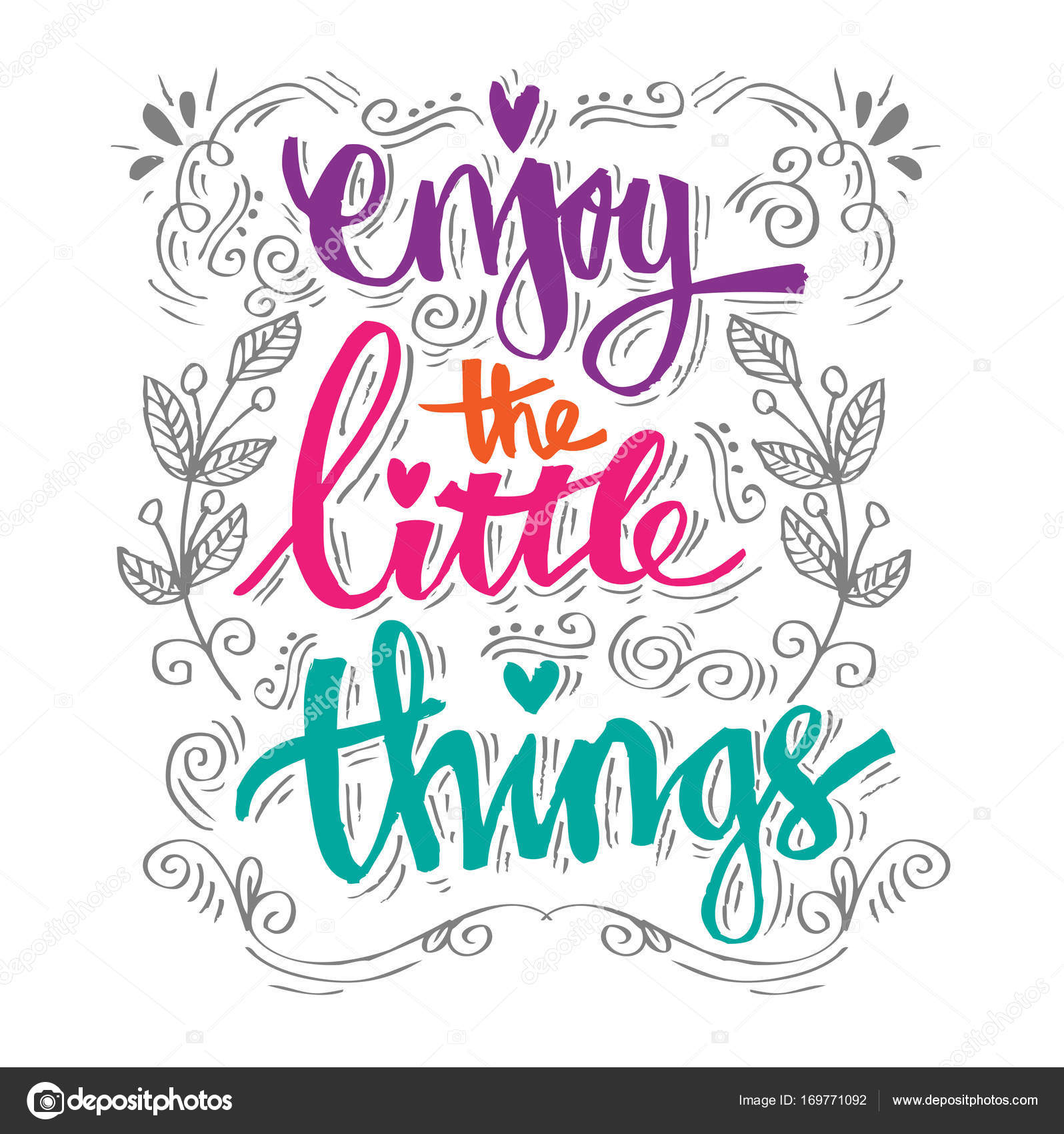 Wonderful Enjoy The Little Things. Quotes. U2014 Stock Photo