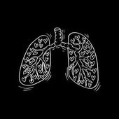 Doodle of Human lungs.