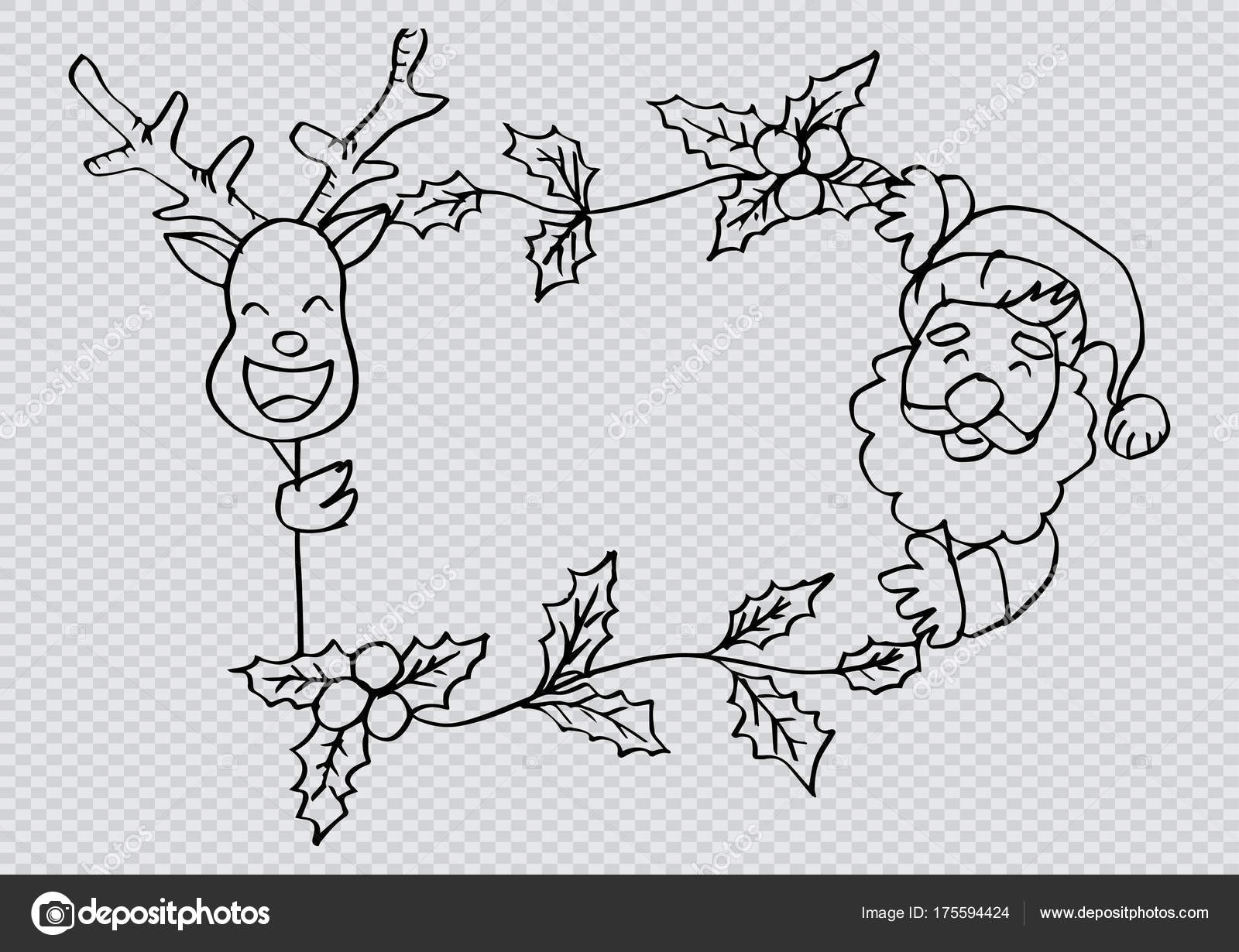 Santa Clause Deer Frame — Stock Photo © Handini #175594424
