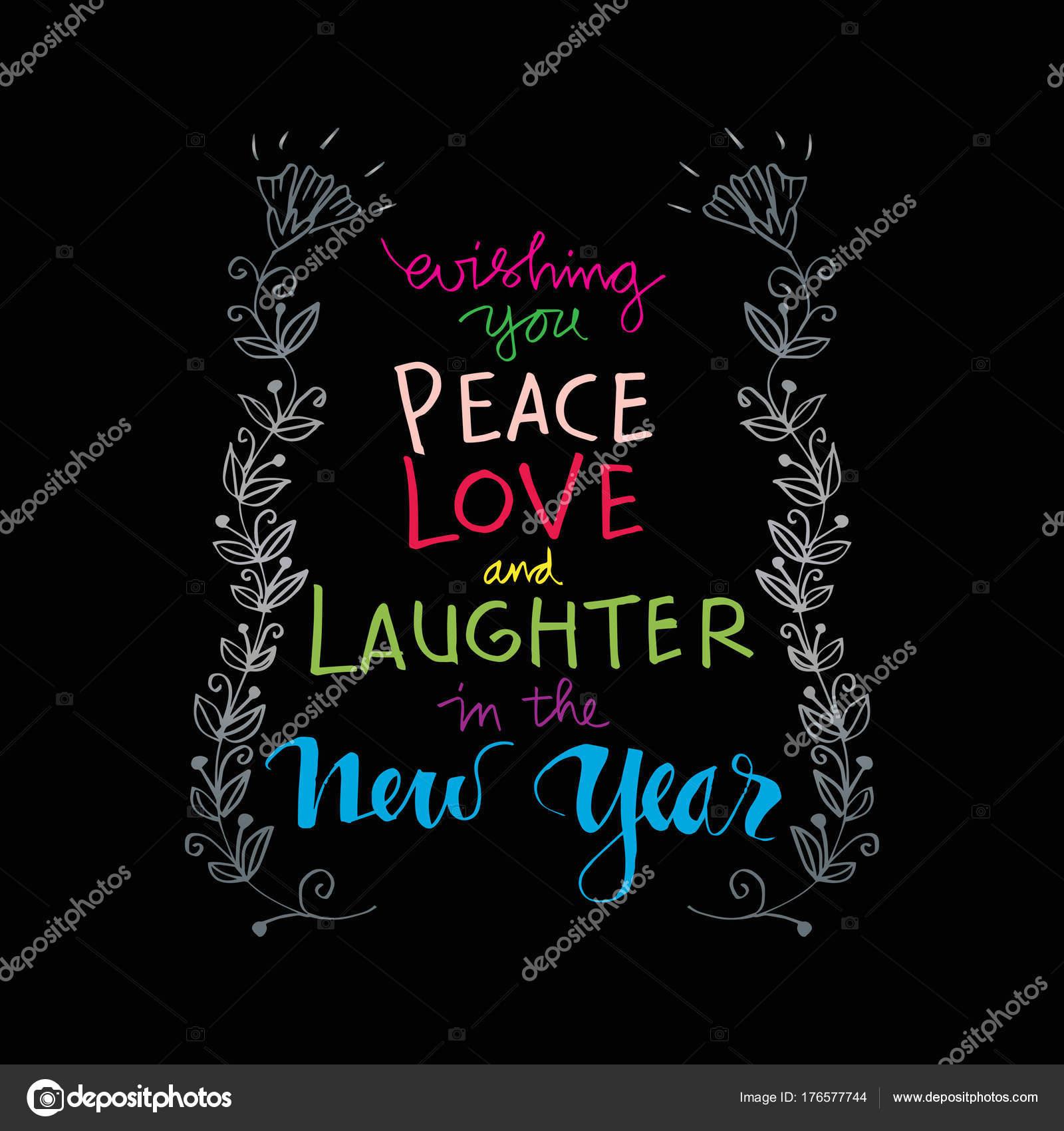 Ich Wünsche Ihnen Frieden Liebe Und Lachen Das Neue Jahr — Stockfoto ...