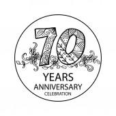 concetto di 70 anni anniversario