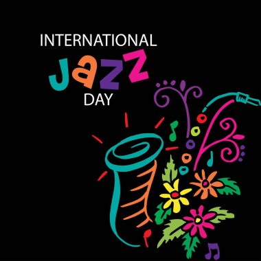 International jazz day poster concept