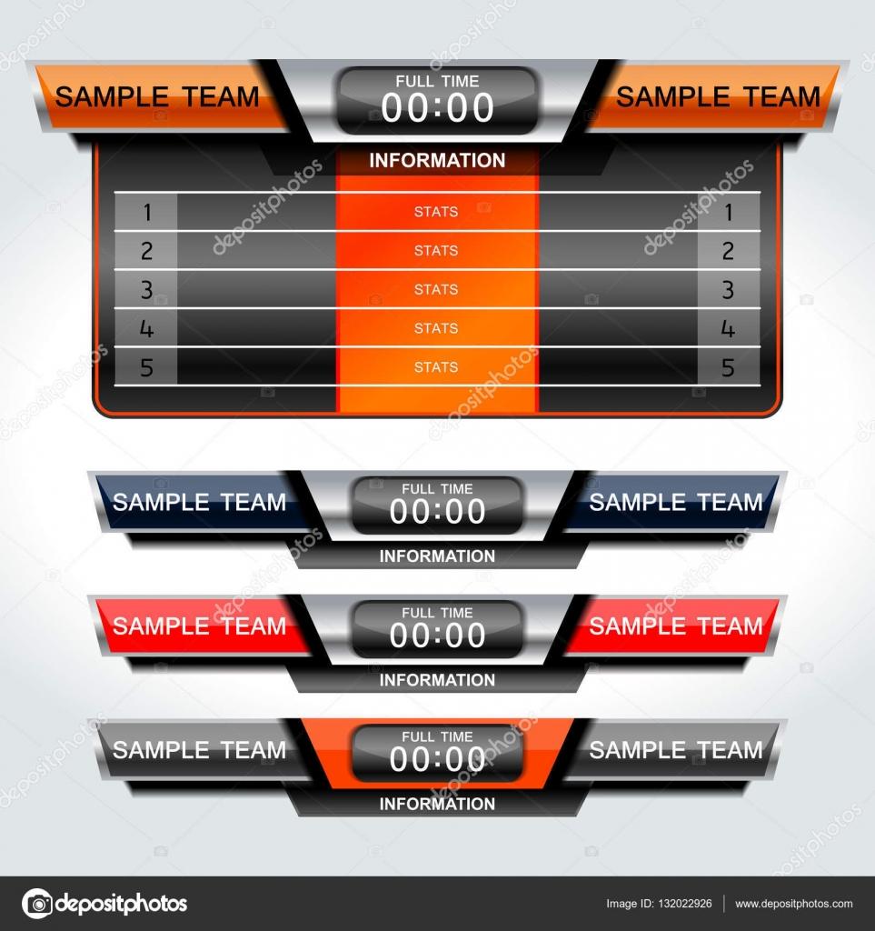 Soccer Scoreboard Template Vector ijaydesign99 132022926 – Scoreboard Sample