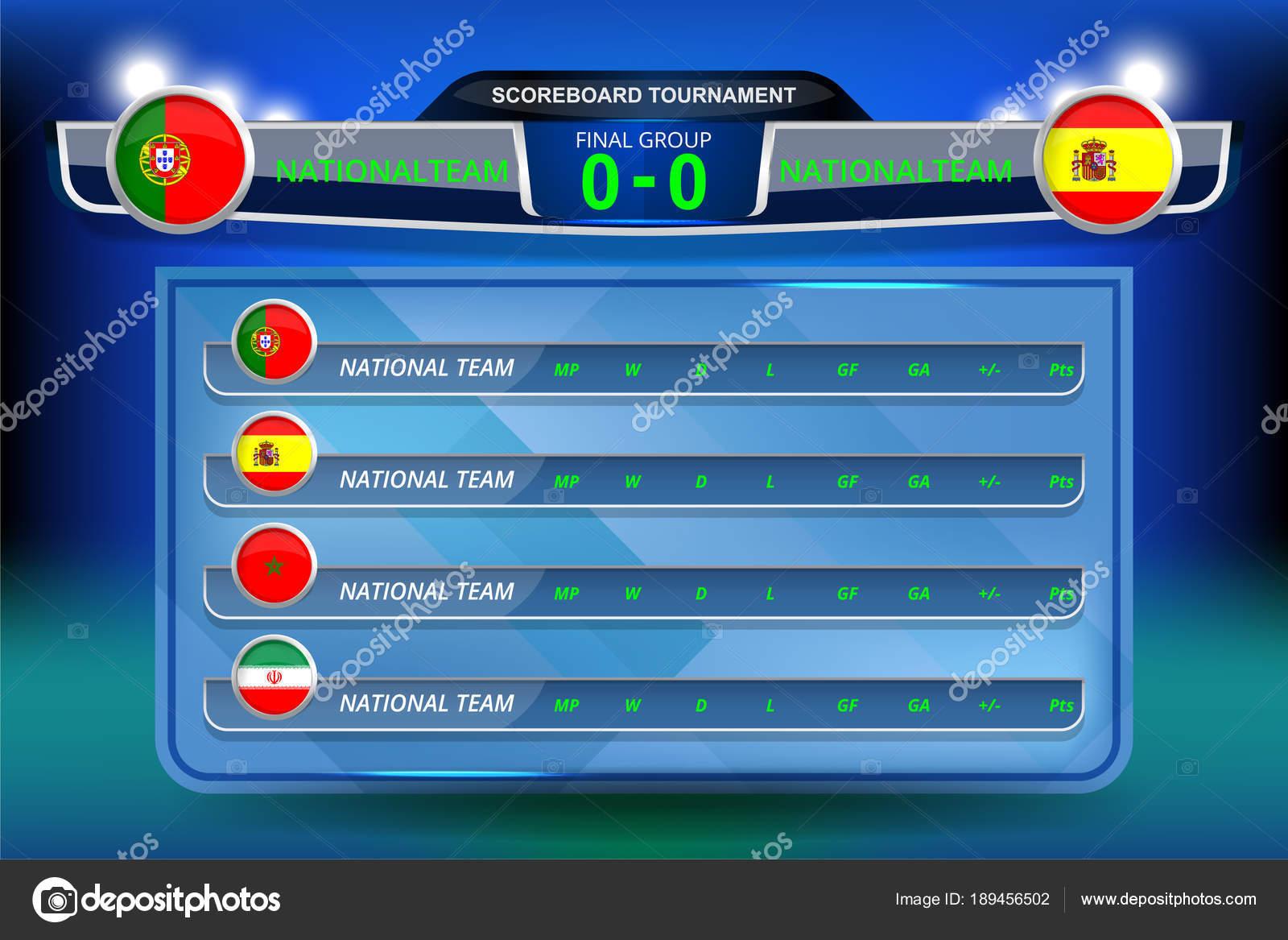 vector illustration graphic scoreboard broadcast lower thirds