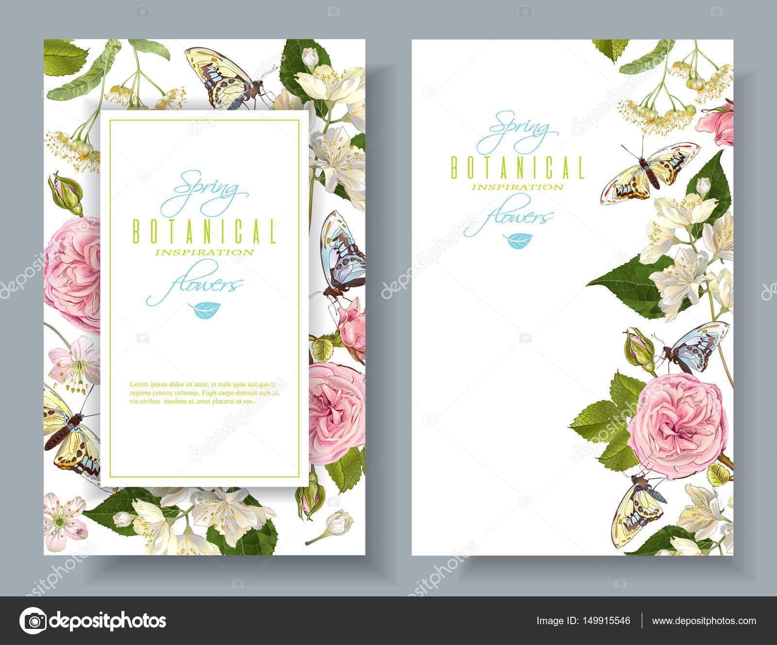 Flower butterfly banners — Stock Vector © PurpleBird18 #149915546