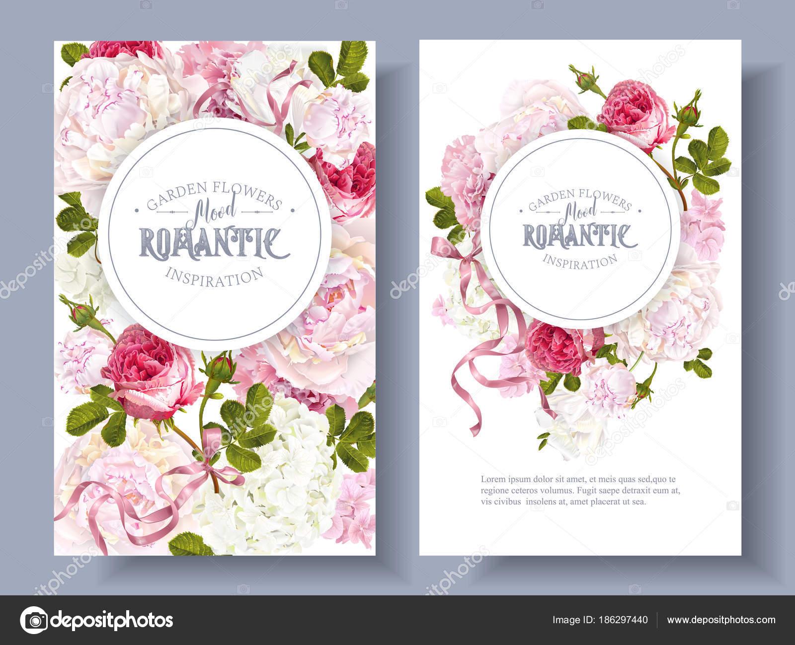 garden banners. Romantic Garden Banners \u2014 Stock Vector