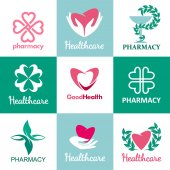 Fotografie Logos for pharmacies, clinics, medical and health