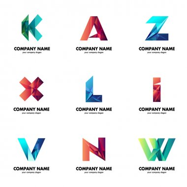 A set of logos for your business. The initial letters of the company name