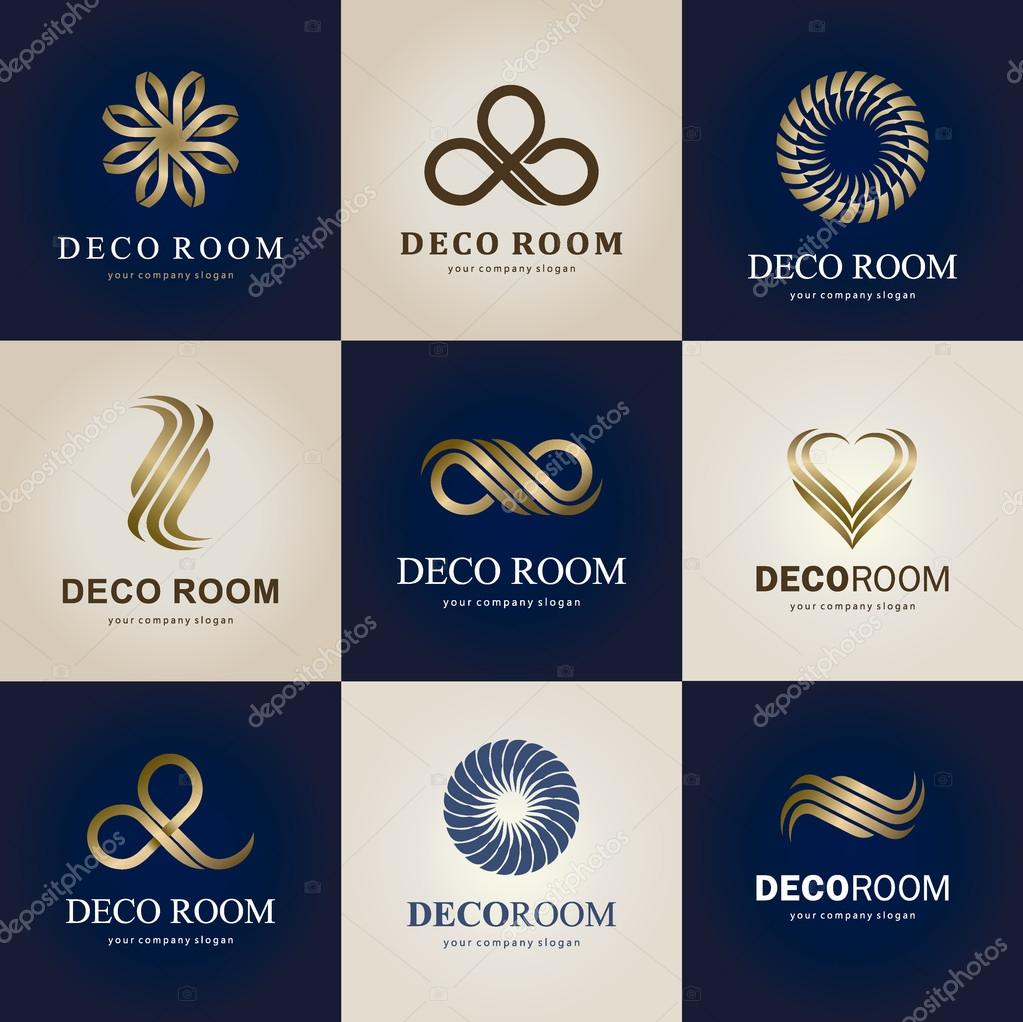 A Collection Of Logos For Interior Decor And Home Decoration