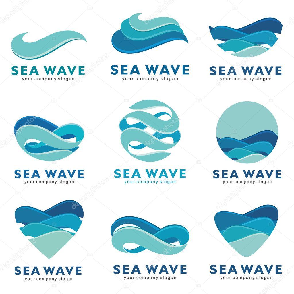 sea wave logo vector concept � stock vector 169 karchik