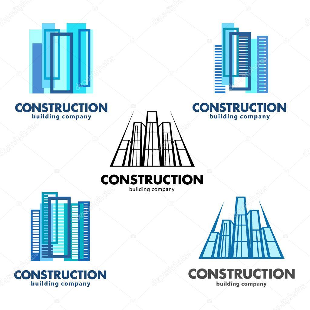 Concetto di costruzione di architetto loghi vettoriali for Empresas construccion