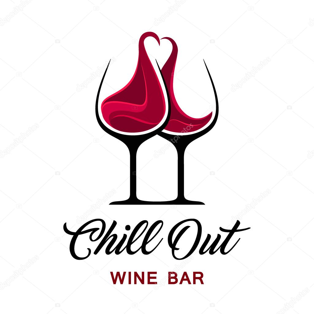 Chill-out Weinbar Logo Vorlage — Stockvektor © kar-chik #125846556