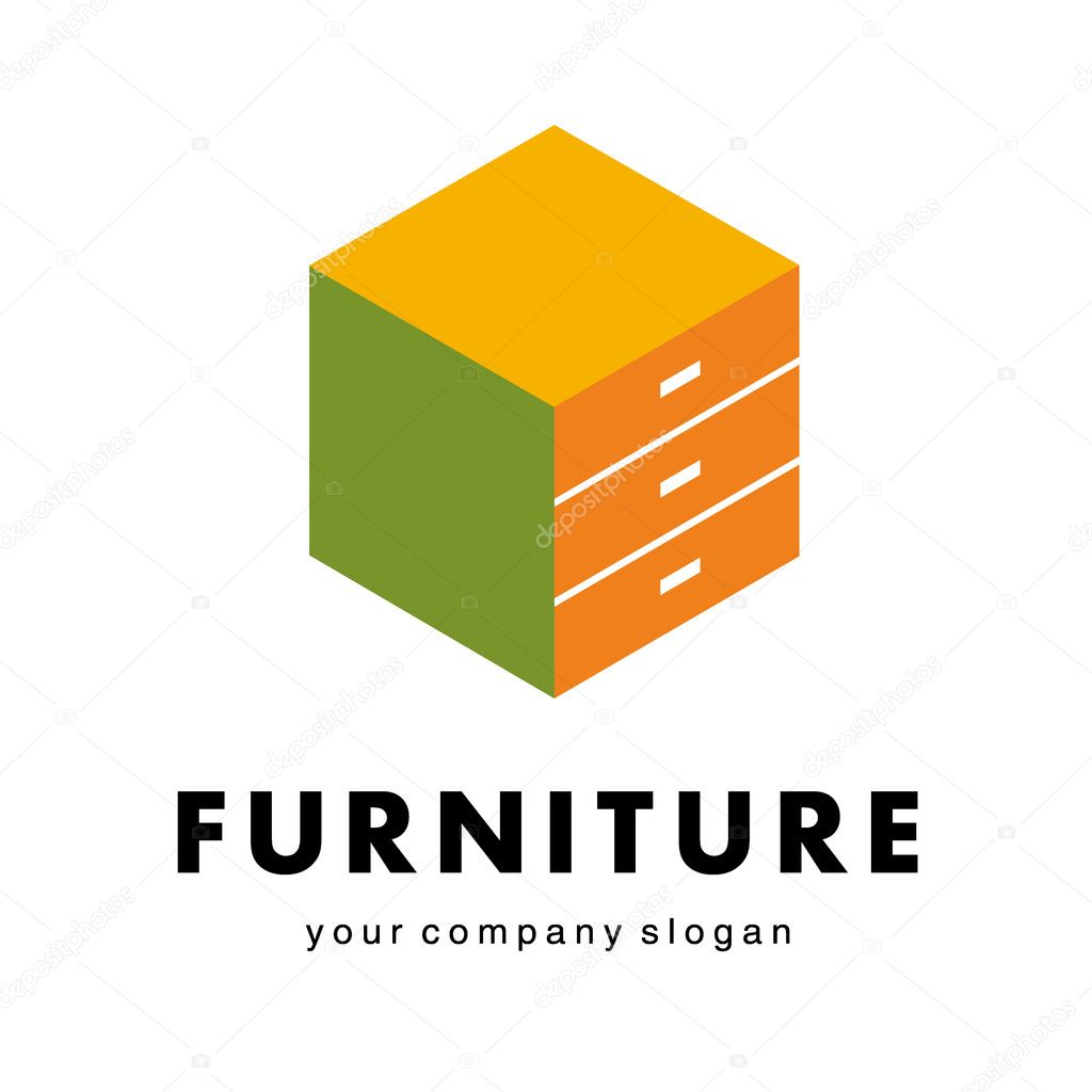 Logo for furniture companies furniture shops stock vector