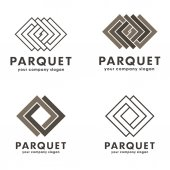 Fotografie Satz von Vektor Logos Parkett, Bodenbelag, Laminat, Parkett board