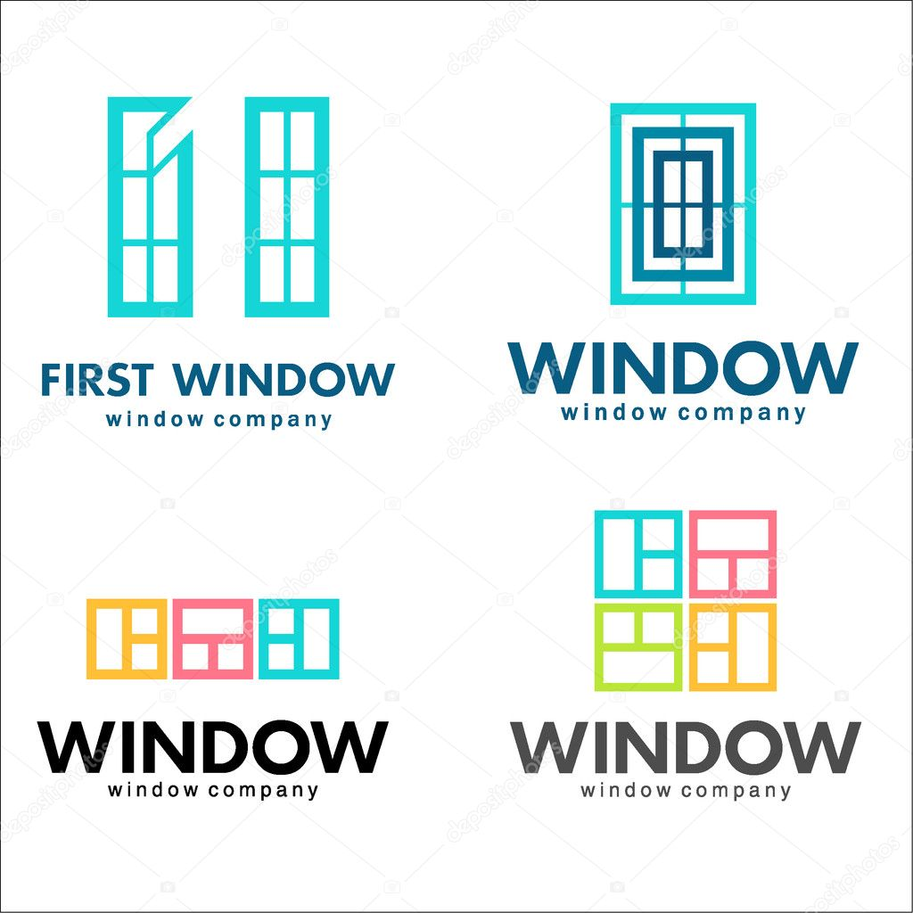 Windows logo set, vector template. The business of manufacturing ...