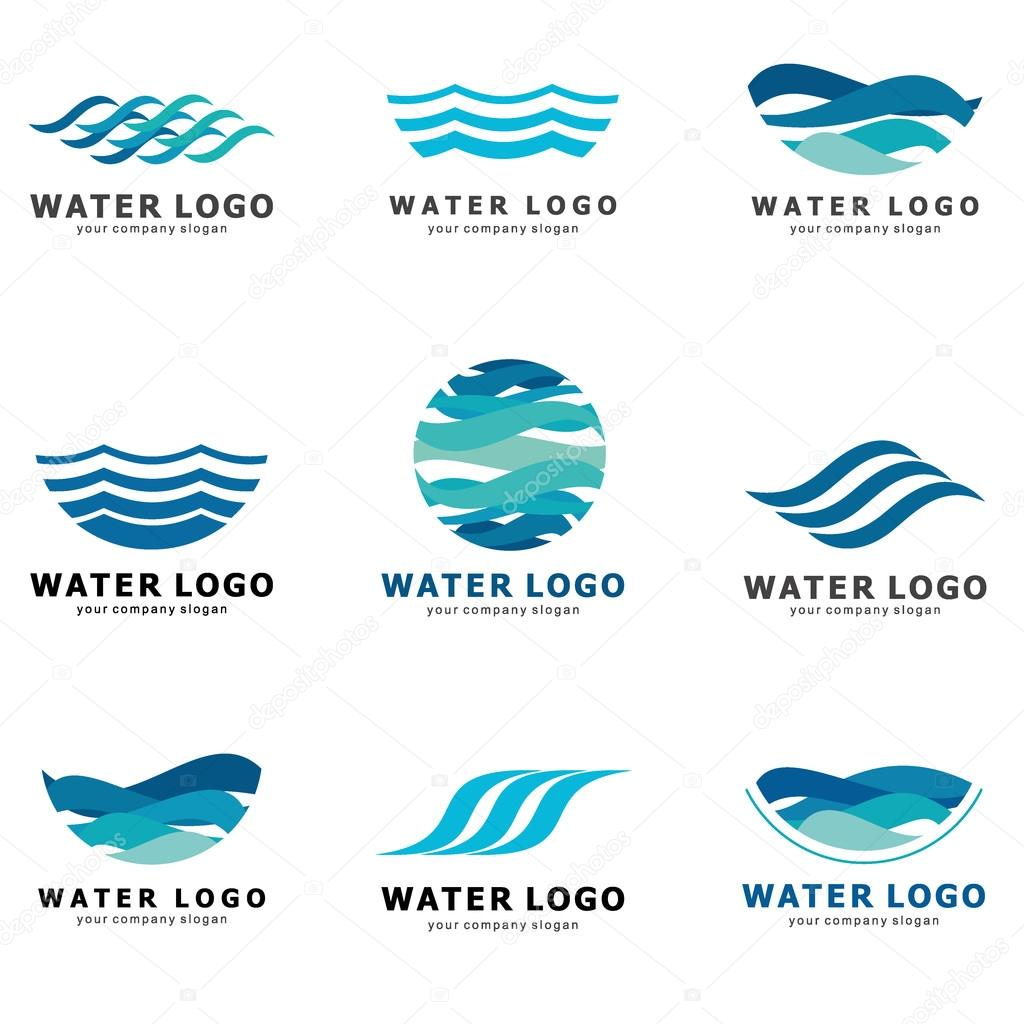 A Collection Of Logos For Water And Plumbing Water