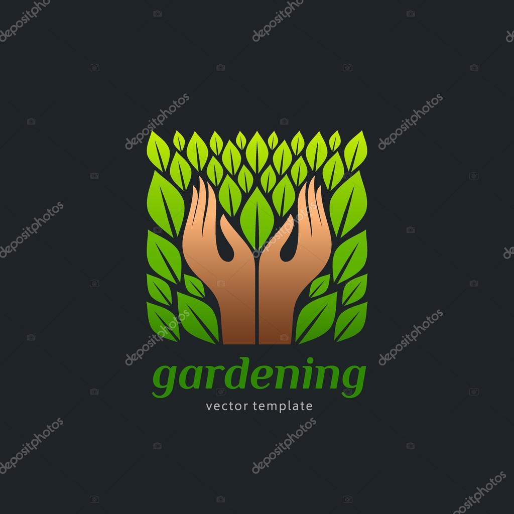 Modello Di Logo Per Alimenti Biologici E Giardinaggio Cucina