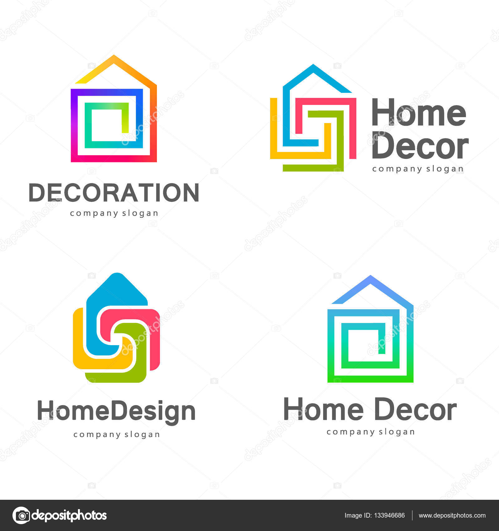 Vector Logo Design Home Decor Decoration Stock Vector C Kar Chik