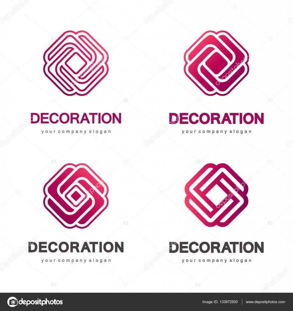 Conjunto de logotipos vectoriales para interiores tiendas for Tiendas de decoracion de hogar