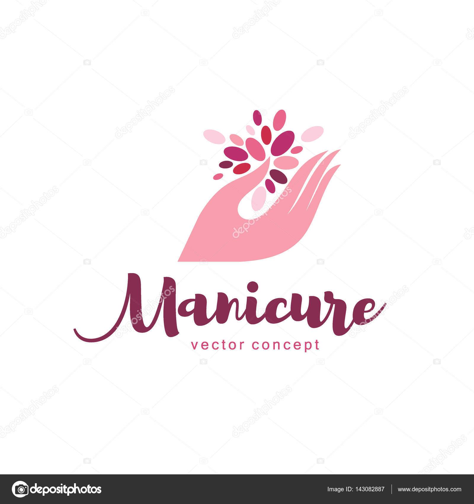 Vettore: manicure logo design | Vector logo design per ...