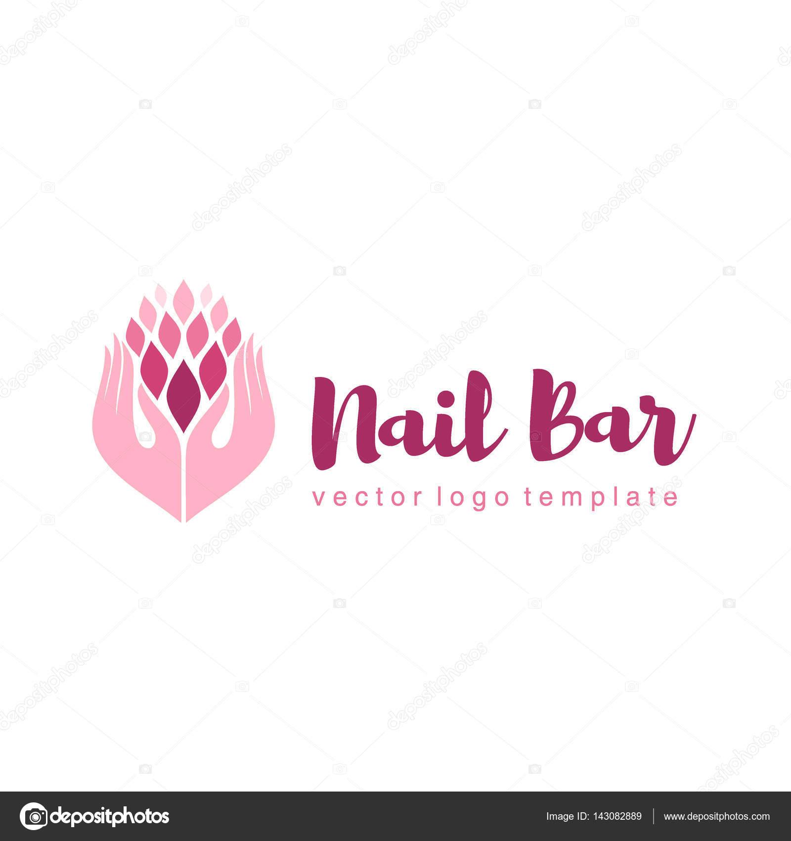 Vektor-Logo-Design für Maniküre und Nagel-salon — Stockvektor © kar ...
