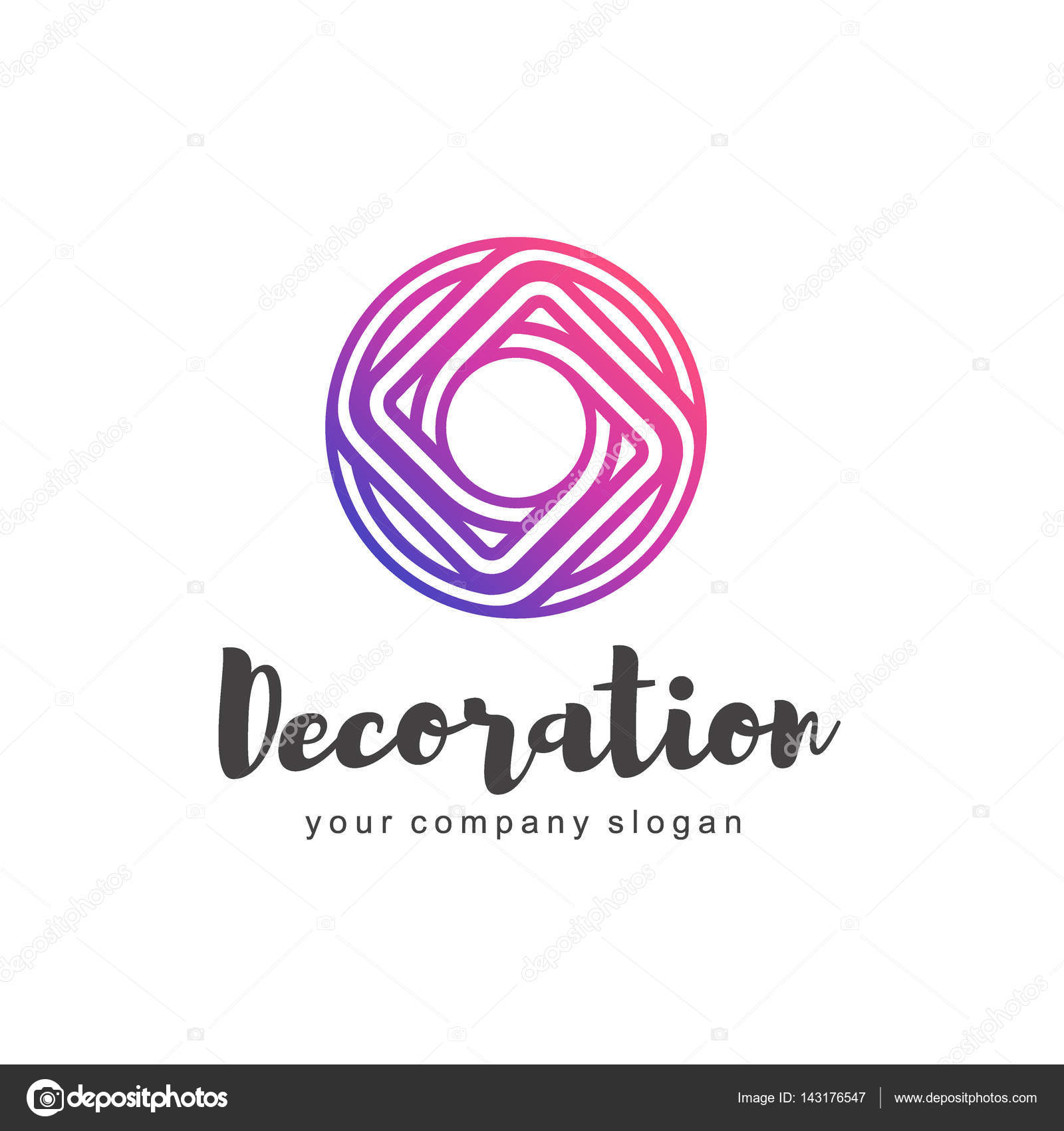 Im genes decoracion vectorial logotipo vectorial para for Tiendas de muebles y decoracion