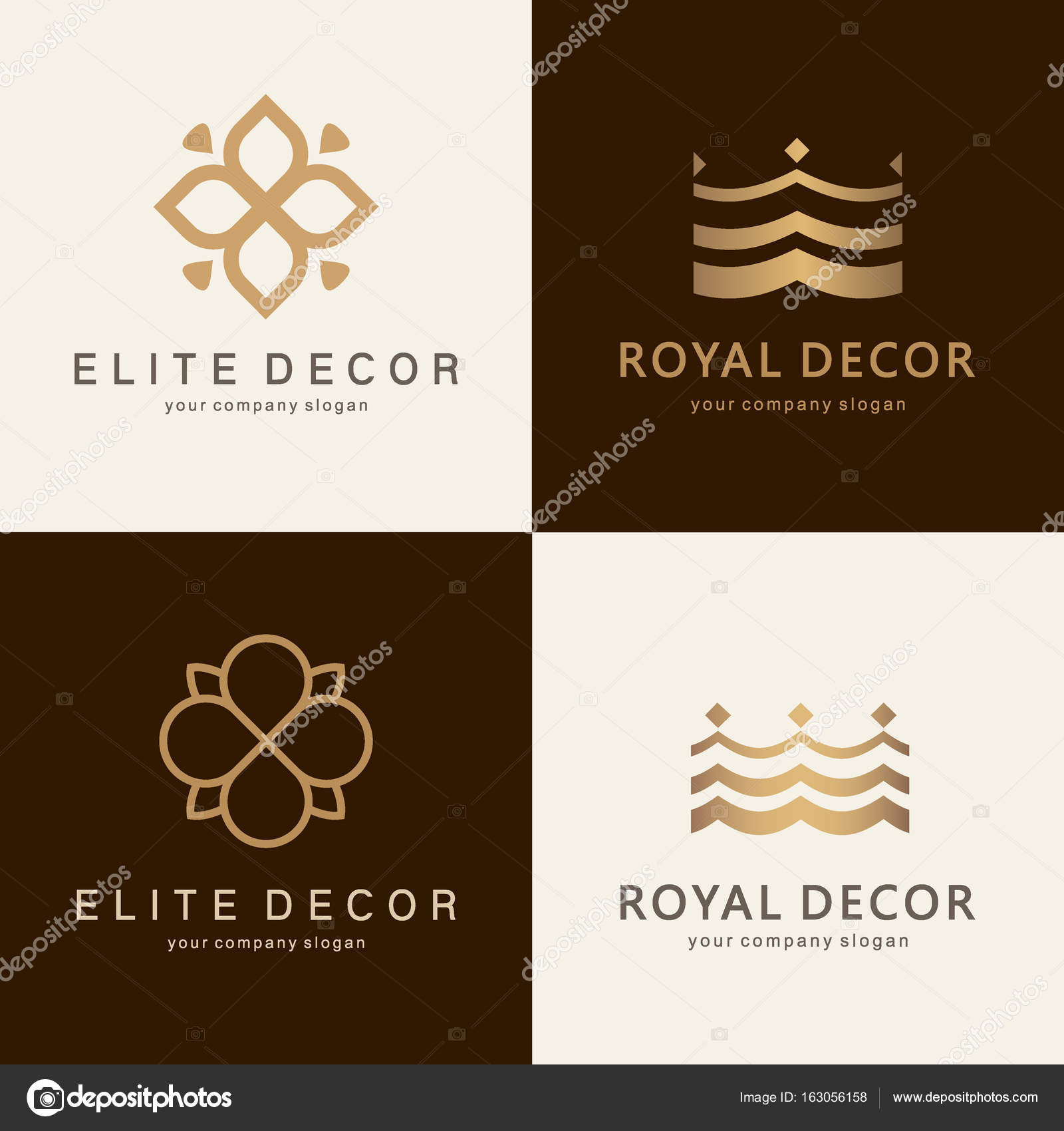 A Collection Of Logos For Interior Furniture Shops Decor Items And Home Decoration Stock Vector C Kar Chik 163056158