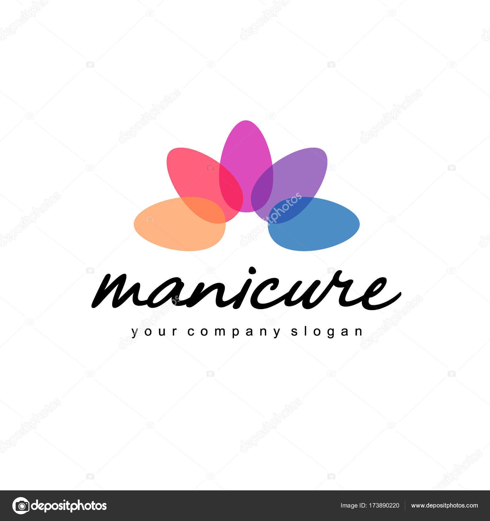 vector dise241o de logotipo para manicure y u241as de sal243n