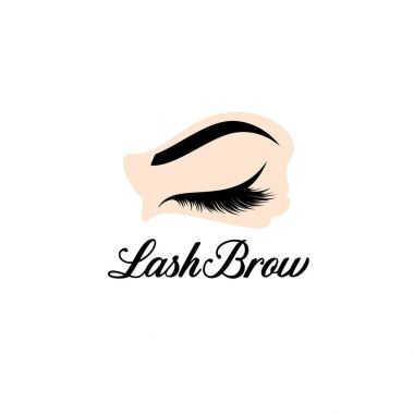 Vector logo design template for beauty salon. Make up. Lash and Brow